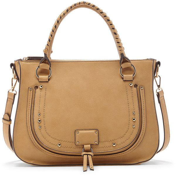 96701f26cc4a0 Sole Society Dayton Studded Whipstitch Satchel ( 65) ❤ liked on Polyvore  featuring bags