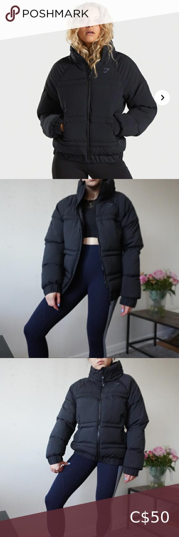 Gymshark Essential Puffer Jacket Jackets Puffer Jackets Jackets For Women [ 1740 x 580 Pixel ]