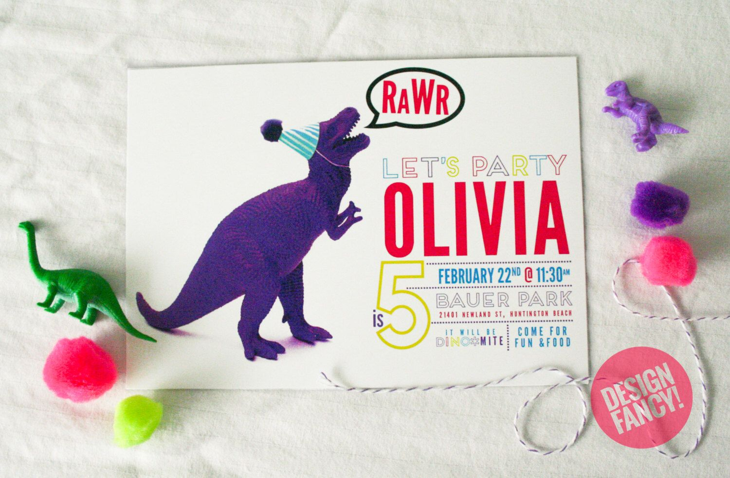 A personal favorite from my etsy shop httpsetsylisting a personal favorite from my etsy shop httpsetsy girl dinosaur birthdaydinosaur birthday invitationsneon filmwisefo