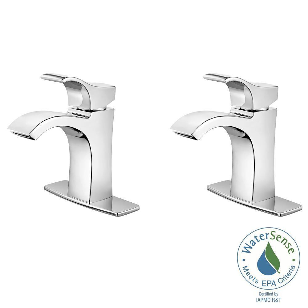 Pfister Venturi Single Hole Single Handle Bathroom Faucet In Polished Chrome 2 Pack Combo Single Handle Bathroom Faucet Bathroom Faucets Faucet Chrome single handle bathroom faucet