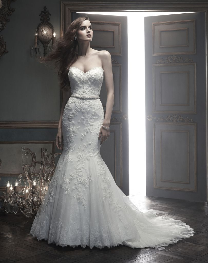 Amare couture style b beaded lace appliqués sewn onto tulle with