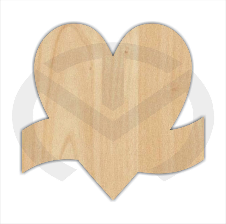 Laser Cut Out Laser Shapes Heart Door Hanger Unfinished Wood Cut Out