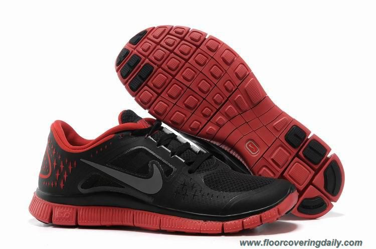 486729c1f7002 Black Bright Crimson Silver Nike Free Run 3 Mens 510642-060 Online ...