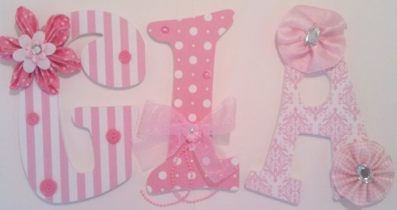 Embellished Decorative Wall Letters - Nursery Letters - Childrens