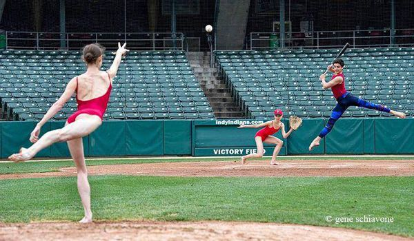 Calling all dancers... Who's up for rounders then? (That's what we call baseball here in the UK) Picture by the GREAT Gene Schiavone