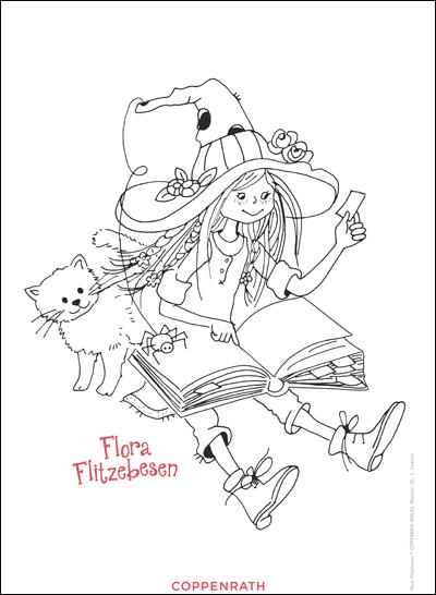 hexen ausmalbilder von flora flitzebesen  kinderbücher