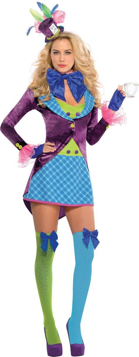 adult teatime mad hatter costume party city - All Halloween Costumes Party City