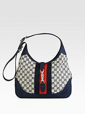 Gucci Jackie Original GG Canvas Shoulder Bag - Vintage Jackie Kennedy  Favorite 661fef035bf6b