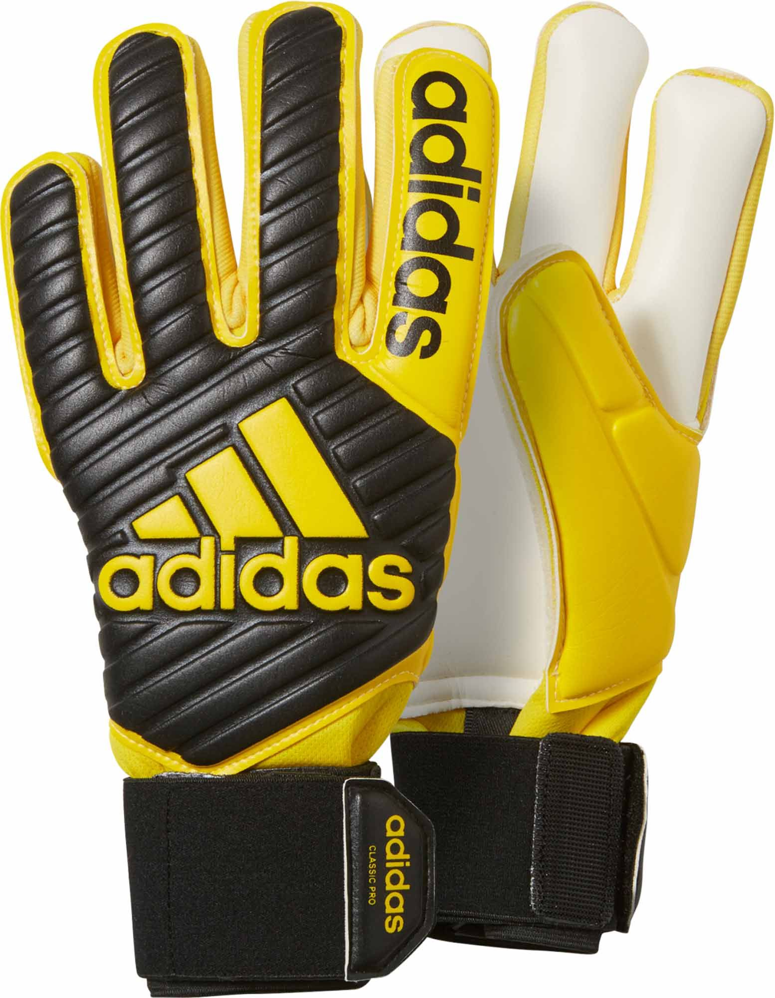 Adidas Classic Pro Goalie Gloves Buy Yours From Soccerpro Adidas Classic Yellow Adidas Goalkeeper Gloves