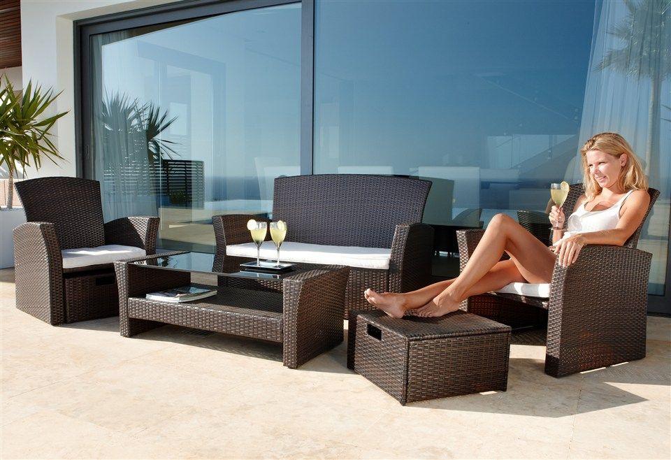 Lounge-Set »Formentera Premium« in cremefarben (7-tlg) im Online - wohnzimmer sofa braun