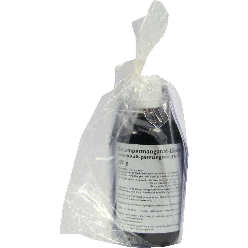 KALIUMPERMANGANAT-Lösung 1 prozent SR:   Packungsinhalt: 100 g Lösung PZN: 01055693 Hersteller: Fagron GmbH & Co. KG Preis: 6,99 EUR…