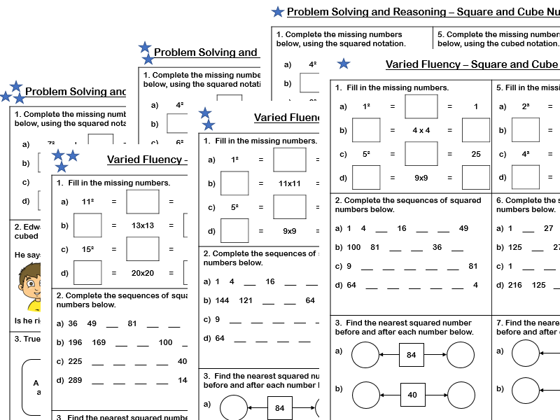 White Rose Maths Year 5 Block 4 Square And Cube Numbers Varied Fluency And Problem Solving Teaching Resources White Rose Maths Problem Solving Solving