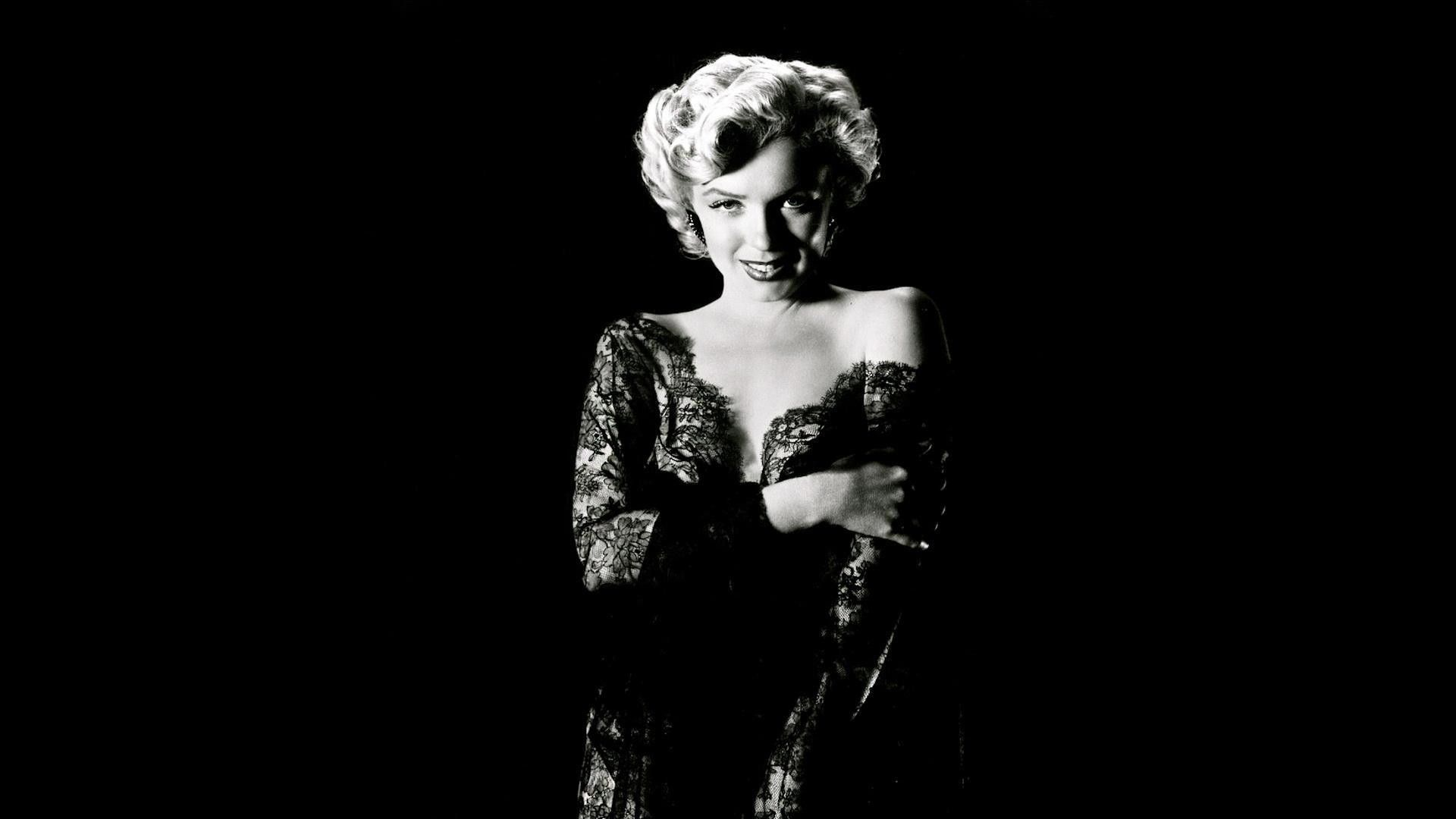 fond ecran celebrite marilyn monroe noir et blanc
