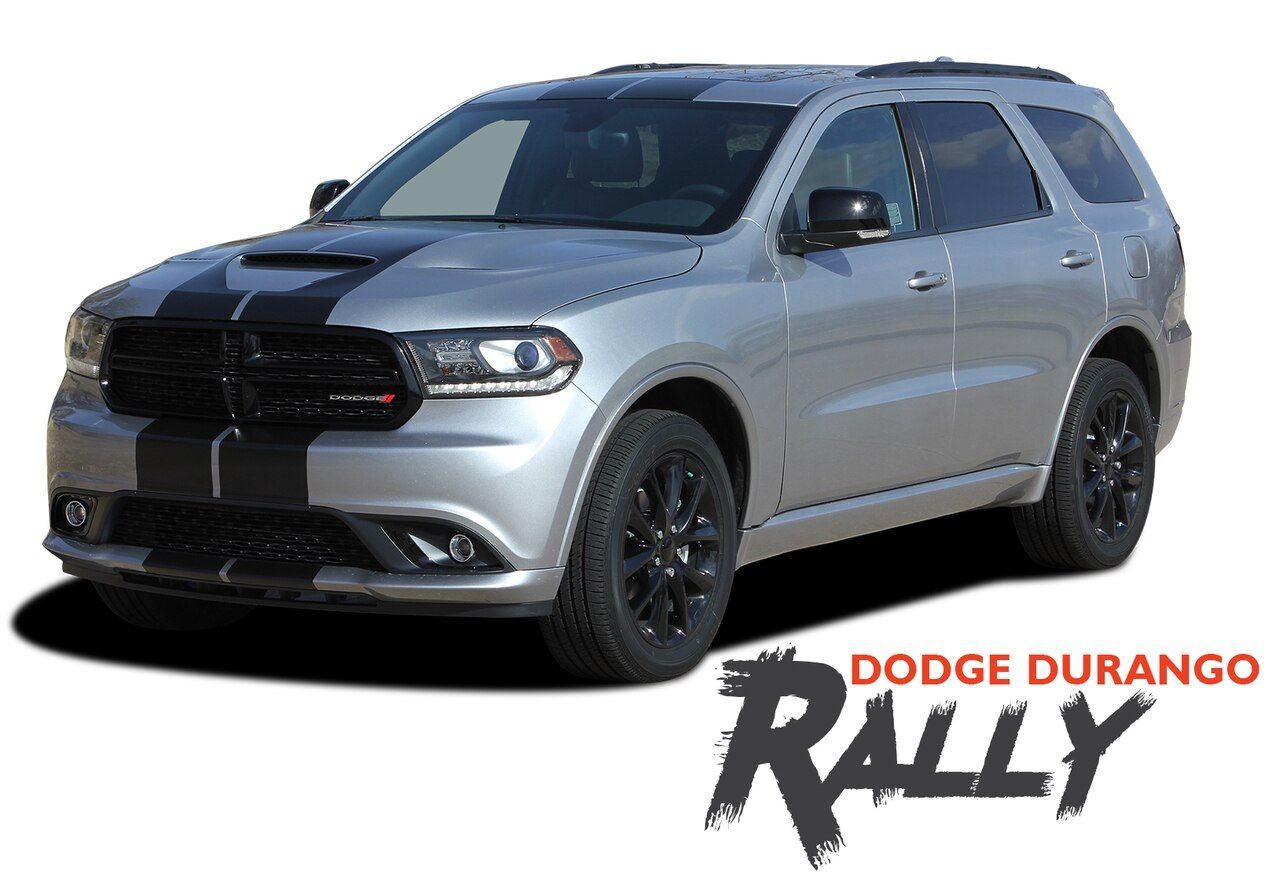 Dodge Durango Rally Dual Racing Stripes Decals Vinyl Graphics Kit 2014 2020 Models Racing Stripes Vinyl Graphics Car Vinyl Graphics