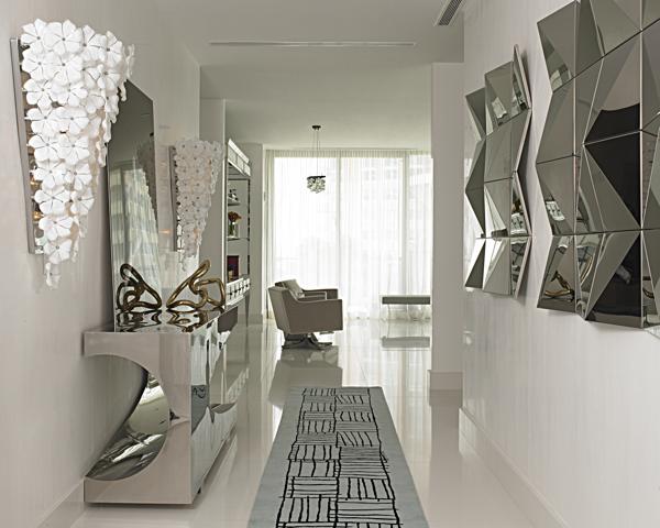 Wanddeko Spiegel metallglanz einrichtung spiegel flur konsolentisch wanddeko home