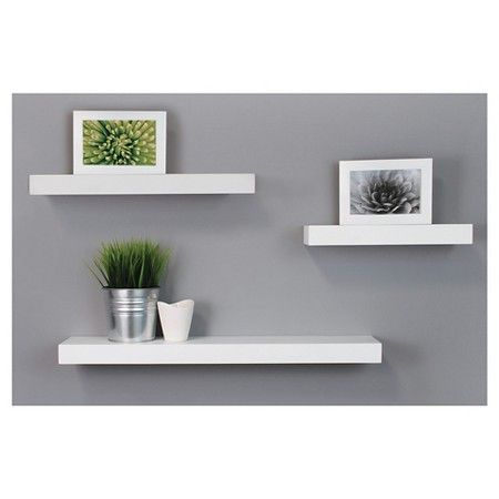 Floating Shelves Target Maine Decorative Wall Ledge Shelf Set Of 3  White  Wall Ledge