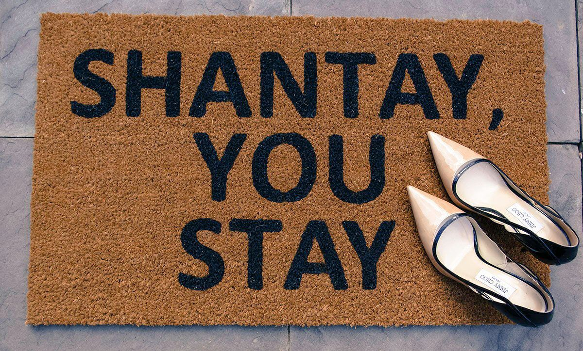 Shantay You Stay Doormat Welcome Mat Funny Gifts Sassy Gifts Drummond Drive Supply Rupaul Drag Race Chante Shante By Drummonddrive On Fußmatte