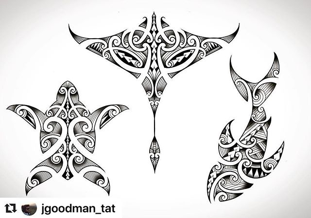 Polynesian Animal Tattoo Designs