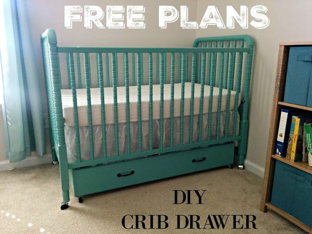 Diy Crib Drawer Free Plans Diy Crib Under Crib Storage Cribs