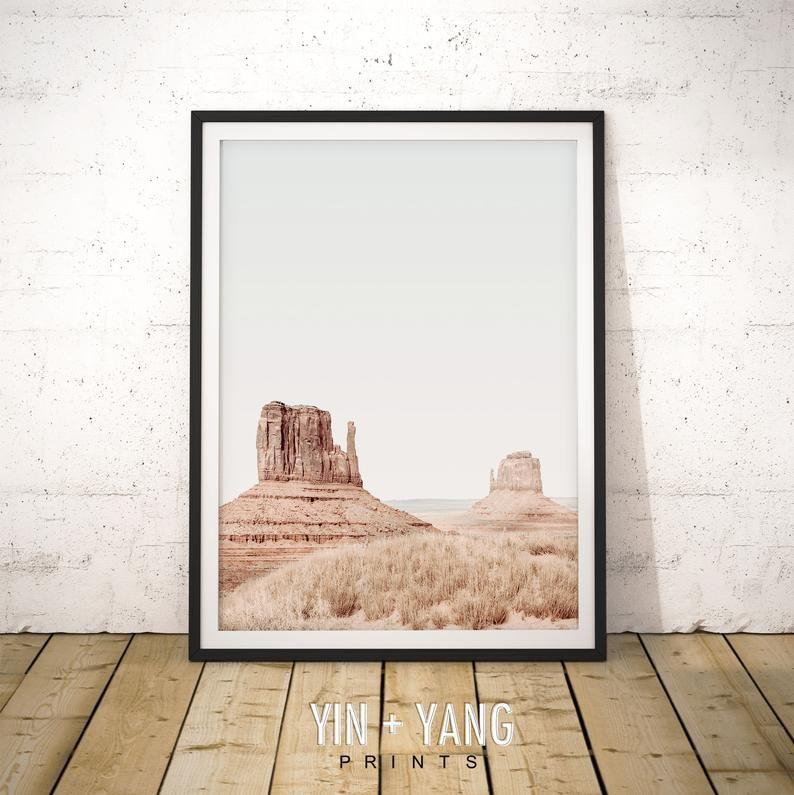 Monument Valley Desert Print Monument Valley Printable Art Etsy In 2020 Boho Wall Art Etsy Printable Art Printable Art