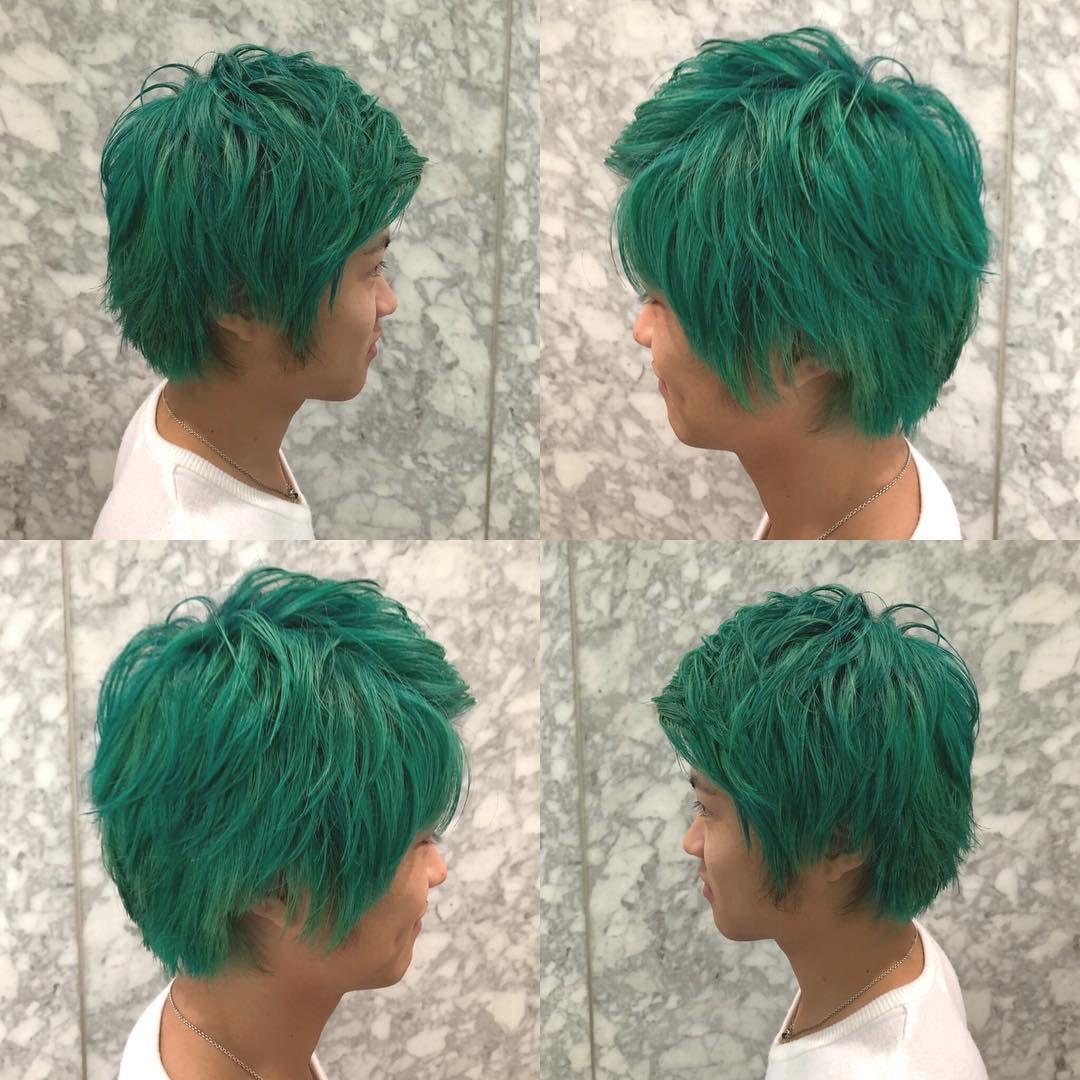 メンズカラー エメラルドグリーン グリーン系 金沢 金沢美容師