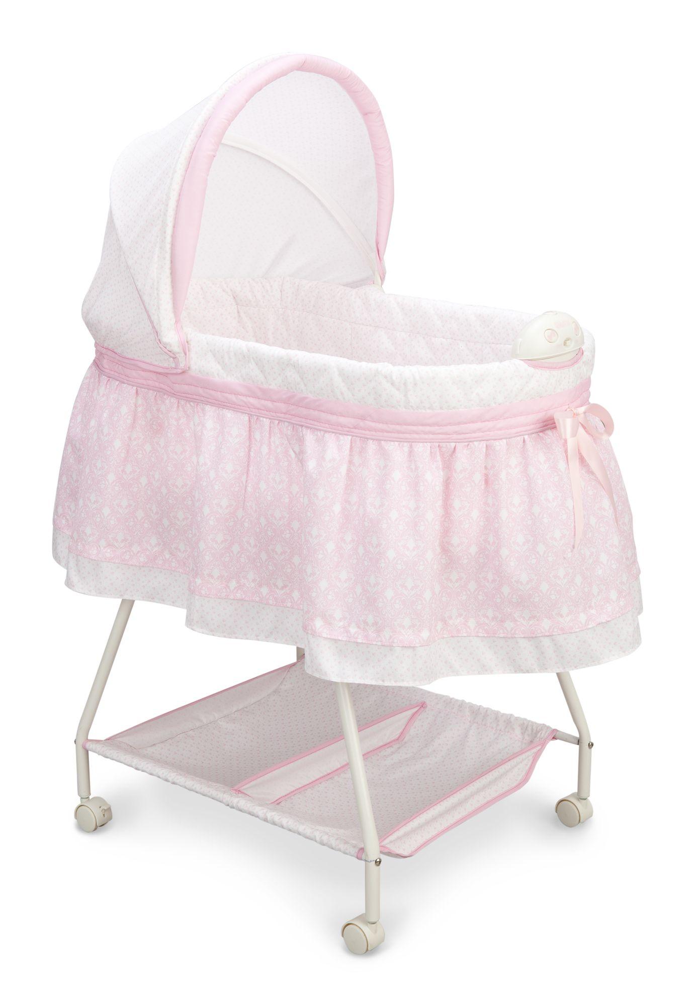 Elegant Girl Bassinet Pink For Baby Bassinet Rocking Bassinet