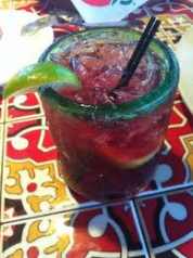 An Awesome  Pomegranate  Margarita!        1 oz Patron Silver Tequila, 1/4 oz Patron Citronge Orange Liqueur, Pomegrante Juice, Lime Squeeze - Had one at the Seattle Airport Chili's and the bartender also added Sprite