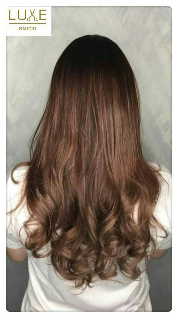 Ravishing Rose Gold Brown Color with Korean S Curl Perm | Hair ...