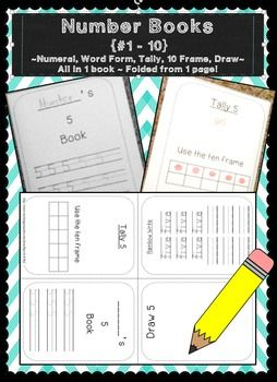 https://www.teacherspayteachers.com/Product/Writing-Numbers-Books-1-10-Word-Form-Numerals-Tally-10-Frame-Draw-1672221