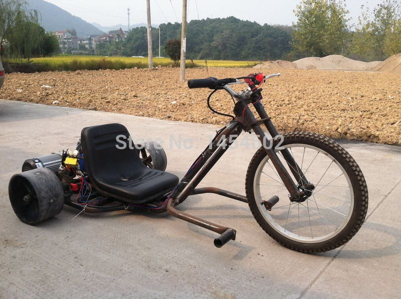 electric drift tirke electric go kart motorized drift trike rear drive drift