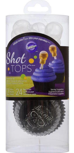 Skull Cupcake Liners and Shot Tops Flavor Infusers Set by Wilton - wilton halloween cupcake decorations