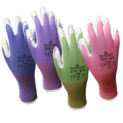 4 Pack Showa Atlas Nt370 Atlas Nitrile Garden Gloves Small