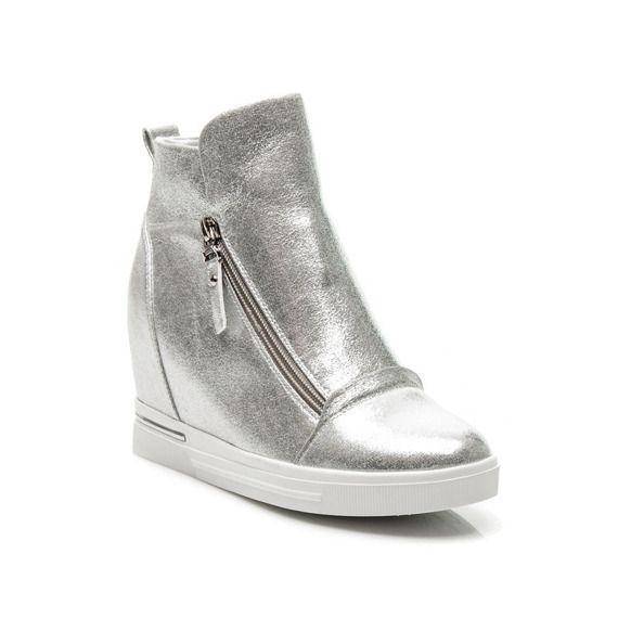 Sneakersy Na Koturnie Grace Buty Damskie Sportowe Trampki Sportowe Sneakersy 47917 Buty Merg Pl Wedge Sneaker Shoes Sneakers