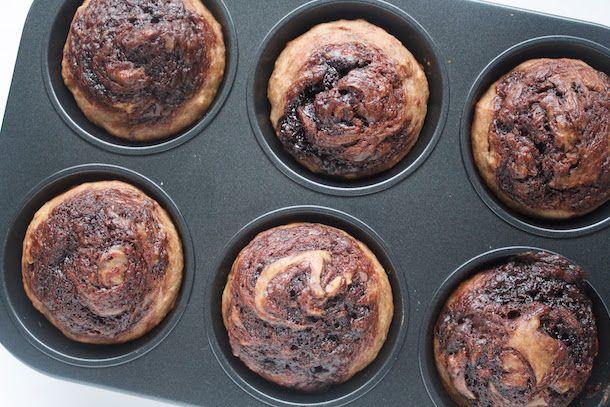 Receita Muffins Veganos de Banana Prontos