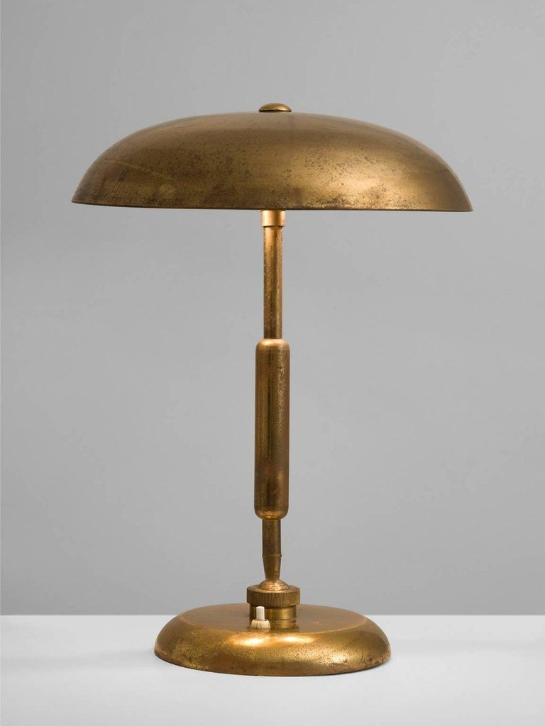 Mid Century Modern Italian Desk Light In Brass 1940s For Sale Desk Light Lamp Lamp Design