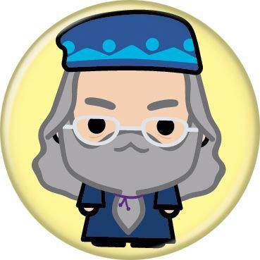 Harry Potter Albus Dumbledore Animated Style Character Pin Button - Yellow