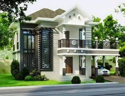 Simple Bungalow House Design With Terrace. Simple. DIY Home Plans .
