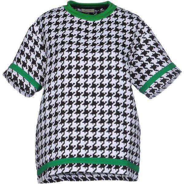 Emma Cook Sweatshirt ($165) ❤ liked on Polyvore featuring tops, hoodies, sweatshirts, black, emma cook, short sleeve tops and short sleeve sweatshirts