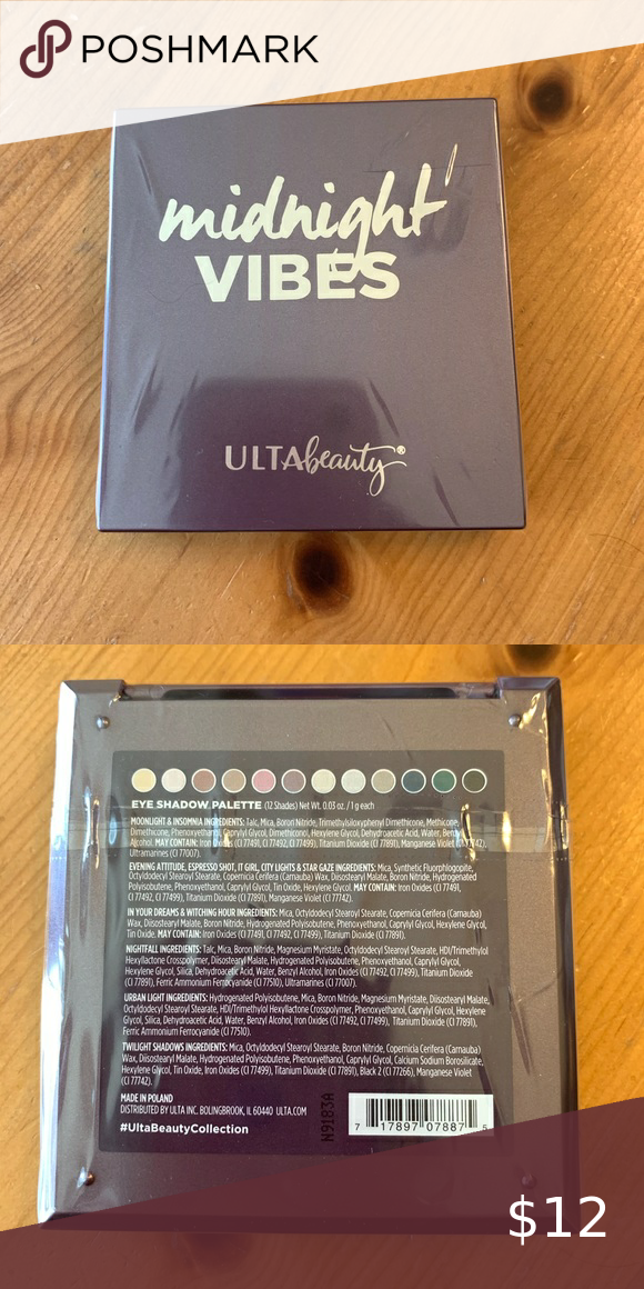 Ulta Beauty Midnight Vibes Palette Never Used Still In Plastic Wrapping And Just Received So It S Not Old Or Expired T Ulta Beauty Ulta Ulta Beauty Makeup
