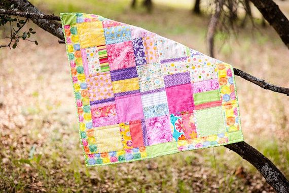 Bright Colorful Quilt  Baby Toddler Girls by TheQuiltedButterfly, $70.00