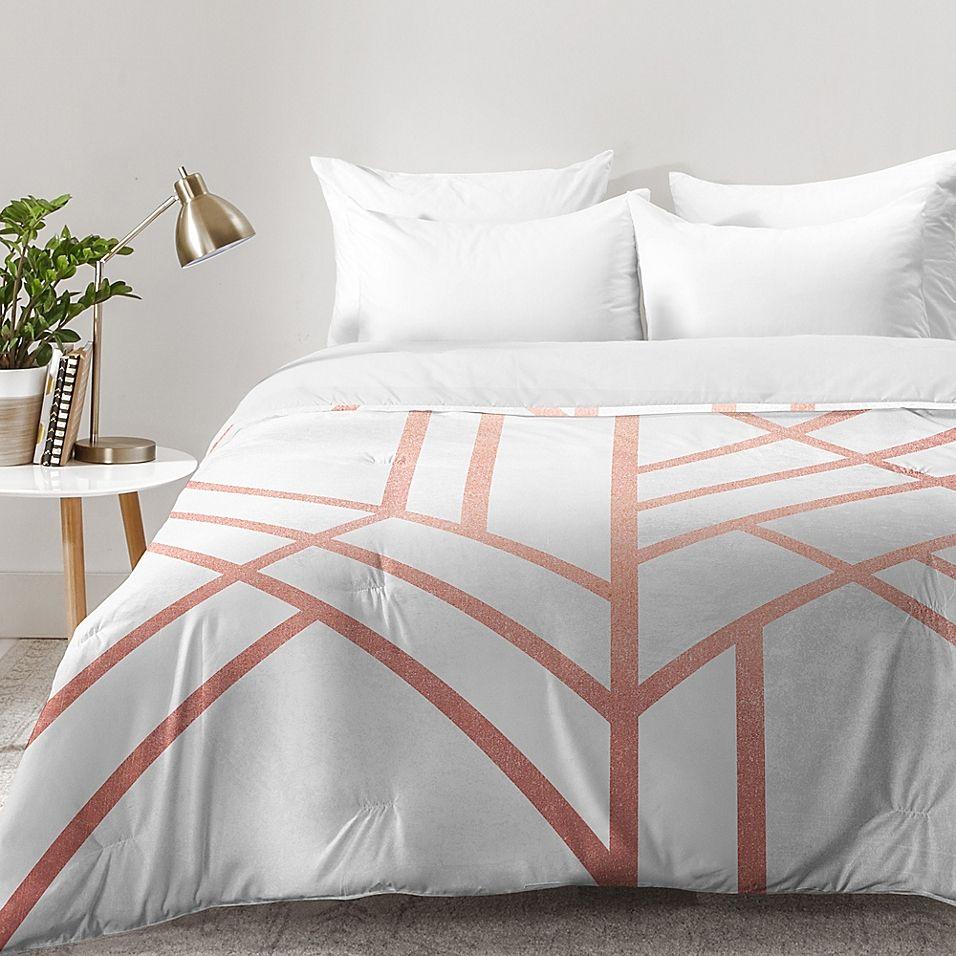 Deny Designs Elisabeth Fredriksson Art Deco Queen Comforter In