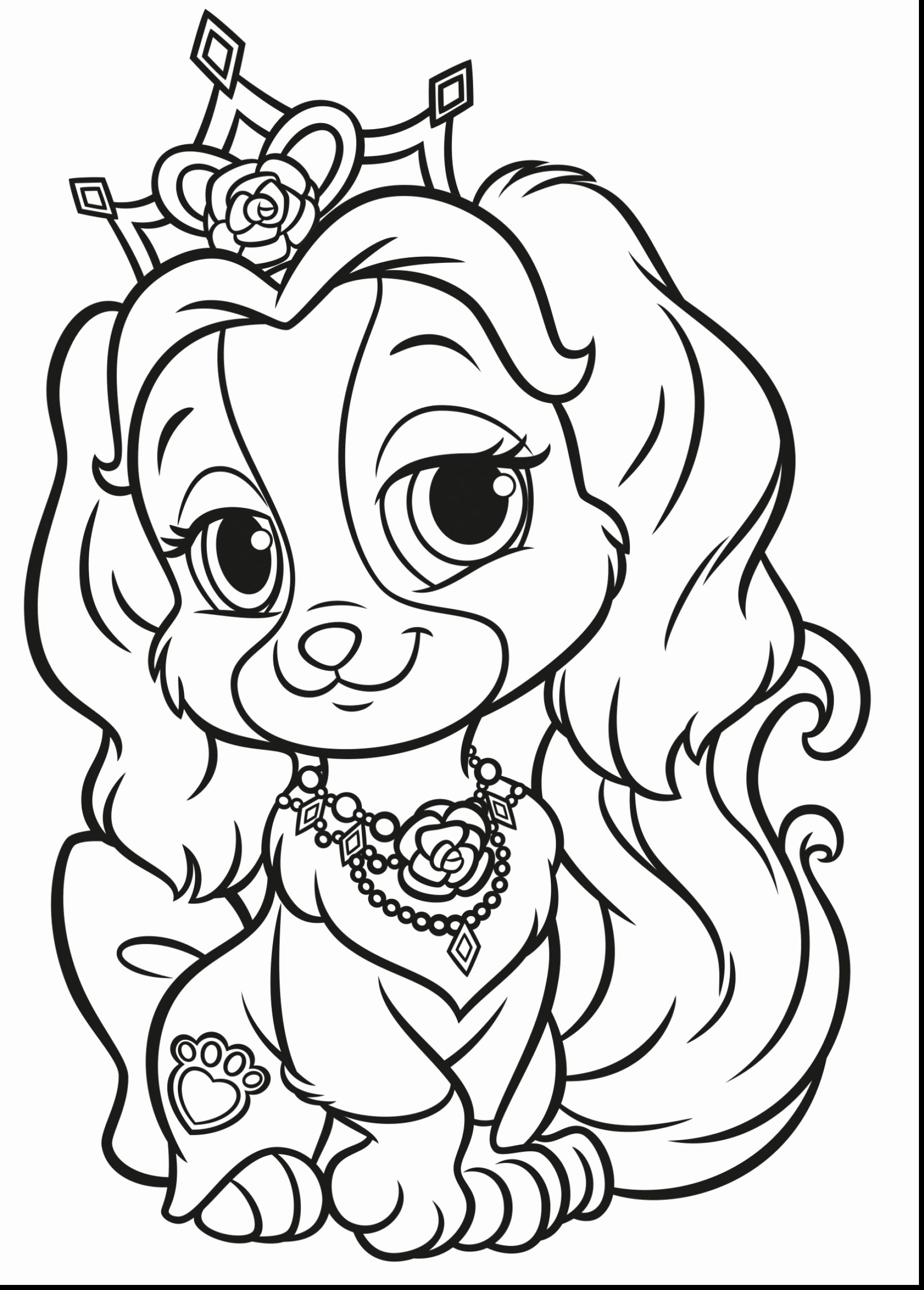 Puppy Princess Coloring Pages For Kids Princess Coloring Pages Dog Coloring Page Puppy Coloring Pages