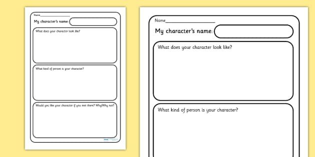 My Character Description Writing Frames - My Character Description - writing template