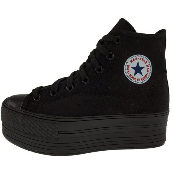all black converse platforms
