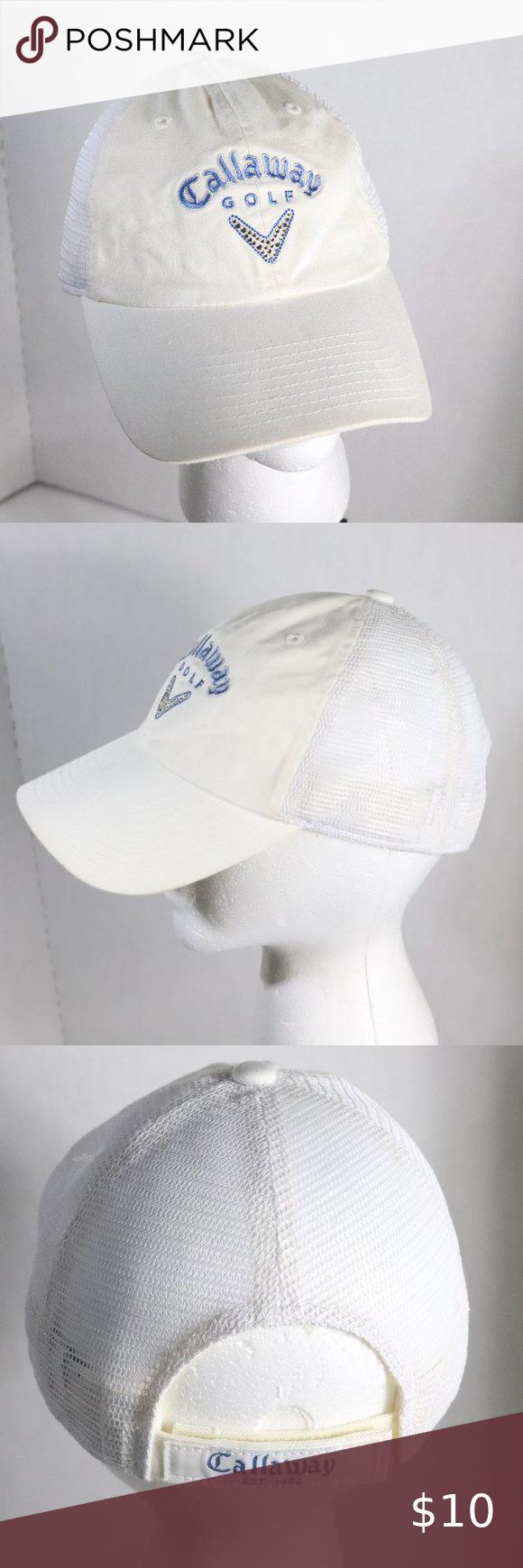 Callaway Golf White Hat With Sparkles Callaway Golf White Hat With Sparkles One Size Fits All Very Clean Hook Loop Closure W In 2020 Callaway Golf Callaway White Hat