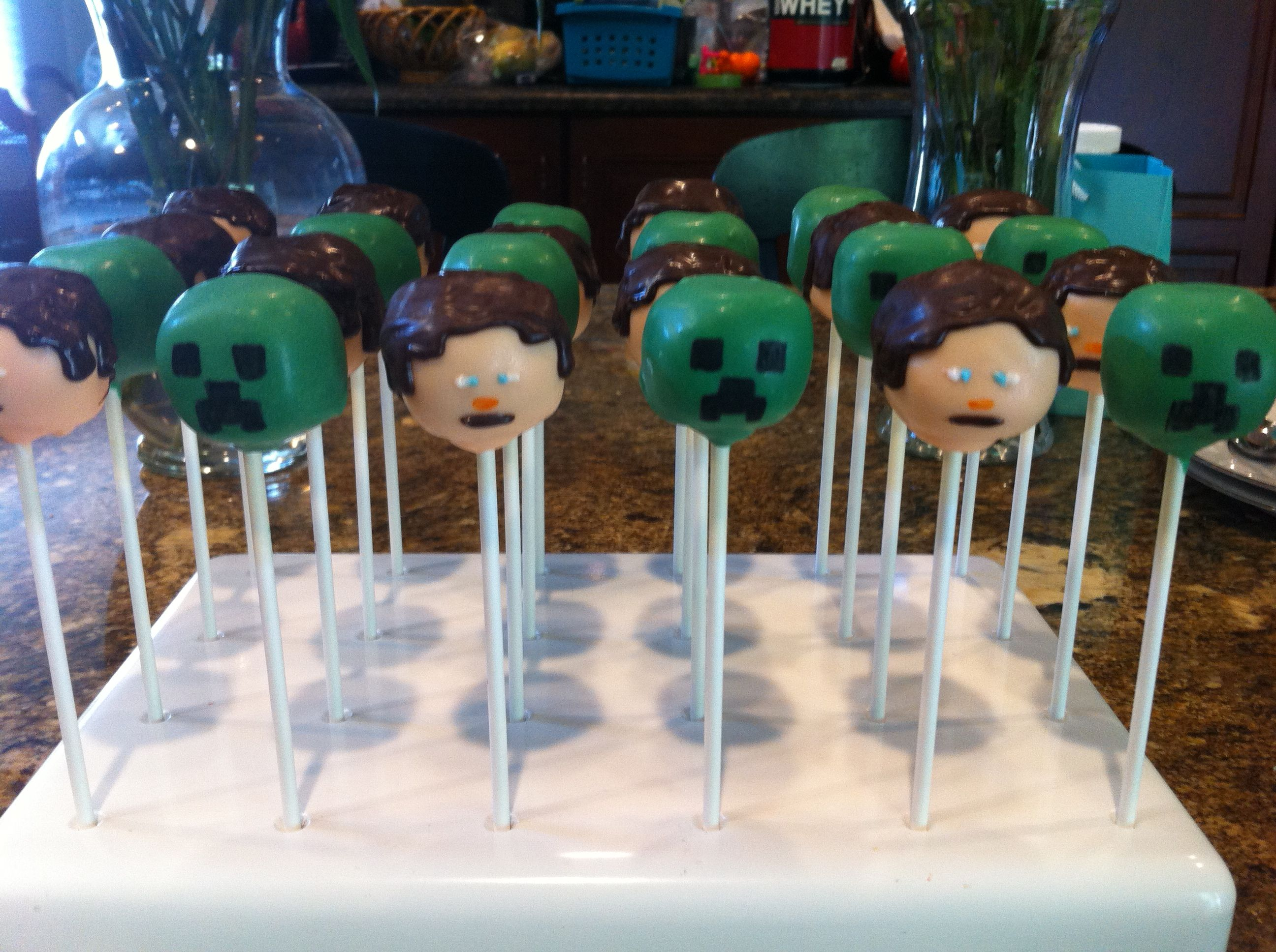 minecraft cake pops ideas