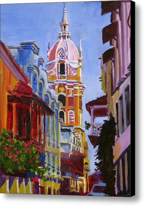 Old City Of Cartagena Colombia Canvas Print Canvas Art By Matt Connors Arte En Lienzo Cartagena Cartagena Colombia