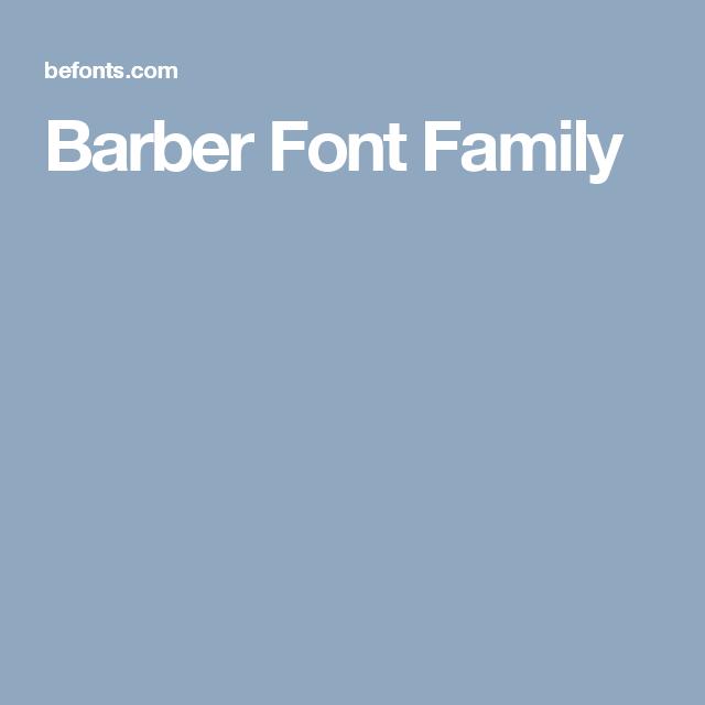 Barber Font Family