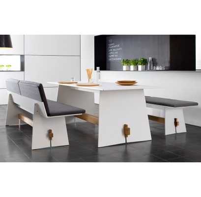 Mesas mianso muebles resto pinterest escritorios - Comedor con banca ...