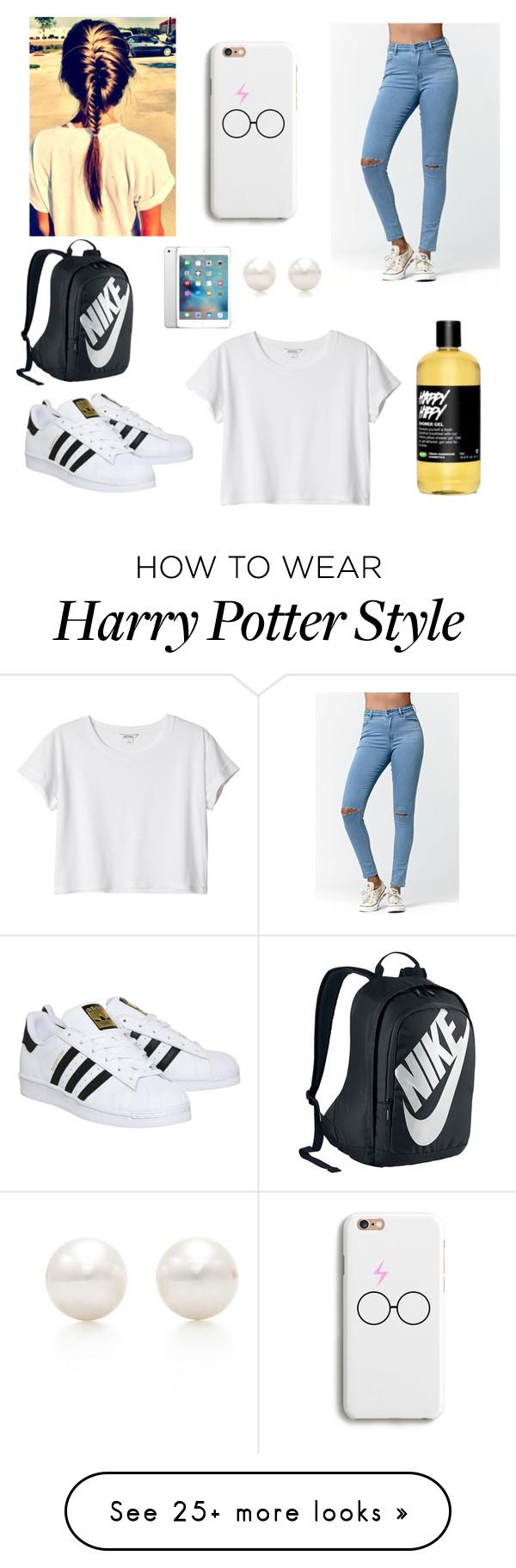 """School Outfit"" by janelingodfrey on Polyvore featuring moda, Bullhead Denim Co., adidas, Monki, NIKE, Apple ve Tiffany & Co."